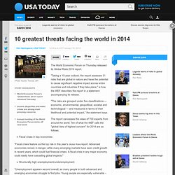 10 greatest threats facing the world in 2014