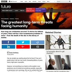 Future - The greatest long-term threats facing humanity
