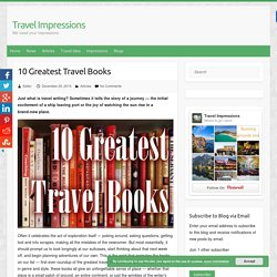 travel essay books