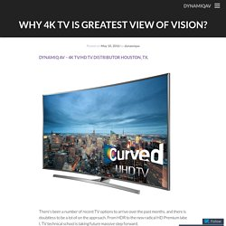 Why 4K TV is Greatest View of Vision?