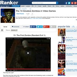 The 13 Greatest Zombies in Video Games