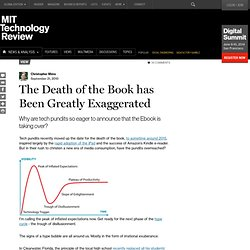 The Death of the Book has Been Greatly Exaggerated