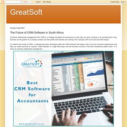 Most Reliable and Secure CRM Software in South Africa by GreatSoft