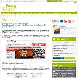 GreatSong.net, premier site légal pour la diffusion de paroles de chansons