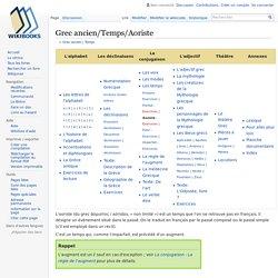 Grec ancien/Temps/Aoriste — Wikilivres
