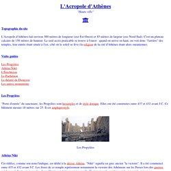 Grèce : l'Acropole