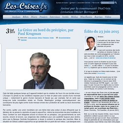 » La Grèce au bord du précipice, par Paul Krugman