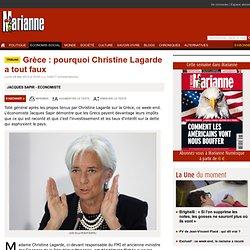 Grèce : pourquoi Christine Lagarde a tout faux