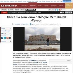 Conjoncture : Grèce : la zone euro débloque 35 milliards d'euros