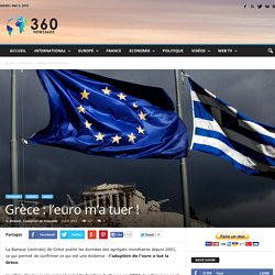 Grèce : l'euro m'a tuer !