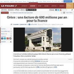 Conjoncture : Grèce: une facture de 600 millions par an pour la France