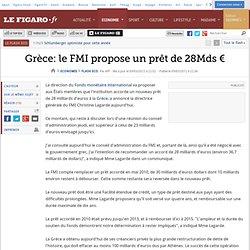 Flash Eco : Grèce: le FMI propose un prêt de 28Mds €