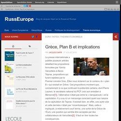Grèce, Plan B et implications