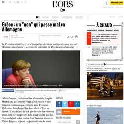 """Grèce : un """"non"""" qui passe mal en Allemagne"""