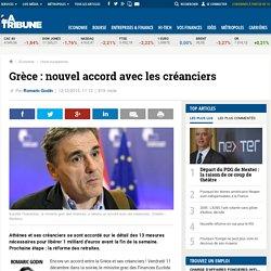 Grèce : nouvel accord avec les créanciers
