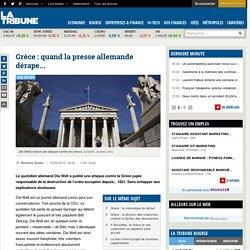 Grèce : quand la presse allemande dérape...