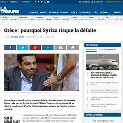Grèce : pourquoi Syriza recule dans les sondages