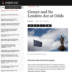 Greece and Its Lenders Are at Odds