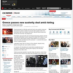 Athens burns as Greece bailout passed - World