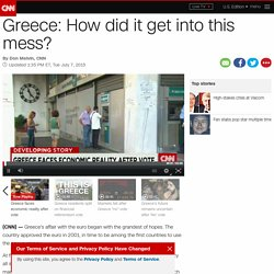 Greece debt crisis: How did we get here?