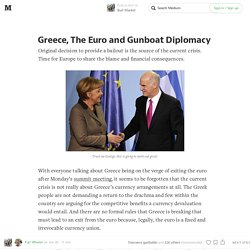 Greece, The Euro and Gunboat Diplomacy — Bull Market