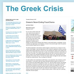 Greece's Never-Ending Fiscal Drama
