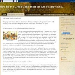 The Greeks to the Greek Gods