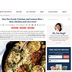 One Pot Greek Chicken and Lemon Rice - best chicken and rice ever!