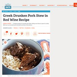 Greek Drunken Pork Stew in Red Wine