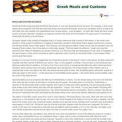 Greek Meals and Customs