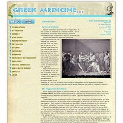 Greek Medicine: Hippocrates