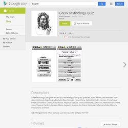 Greek Mythology Quiz - Apps on Android Market