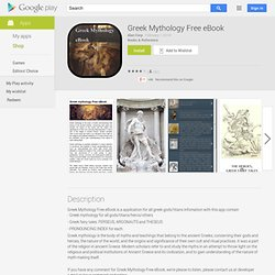 Greek Mythology Free eBook