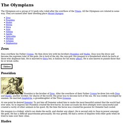 Greek Mythology Gods Olympians