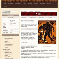 ARES : Greek God of War | Mythology, w/ pictures | Roman Mars