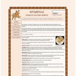 Mitología griega: LAS NINFAS 1