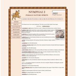 Mitología griega: LAS NINFAS 2