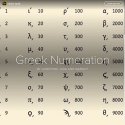 Numeration in ancient Greece - Joséphine, Margot et Aïda