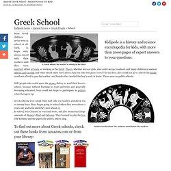 Greek Schools - Ancient Greece for Kids