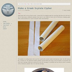 Make a Greek Scytale Cipher