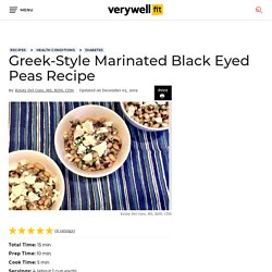 Greek-Style Marinated Black Eyed Peas Recipe