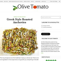 Greek Style Roasted Anchovies