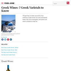 Greek Wines: 7 Greek Varietals to Know