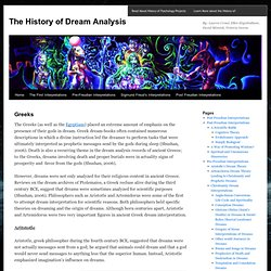 The History of Dream Analysis