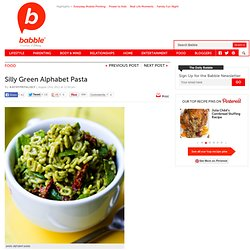 Green Alphabet Pasta