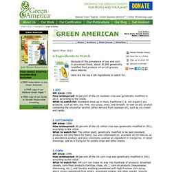 April/May 2012: 9 GMO Ingredients to Watch Out For