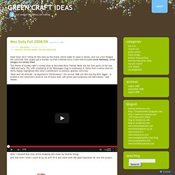 Green Craft ideas