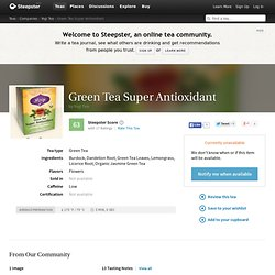 Green Tea Super Antioxidant Tea by Yogi Tea