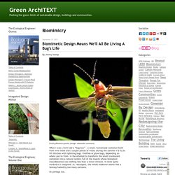 Green ArchiTEXT: Biomimicry