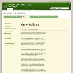 Green Building - Leaders - Green Report Card 2011